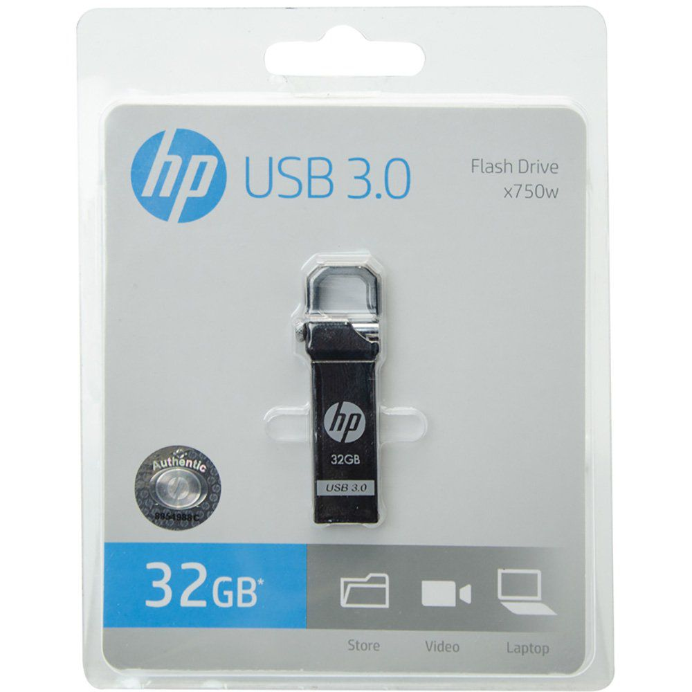 Pen Drive 32gb Usb 3.0 Metal Hp X750w Origina