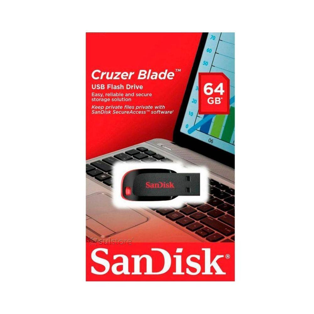 Pen Drive 64Gb SanDisk Cruzer SDCZ50-064GB-B35