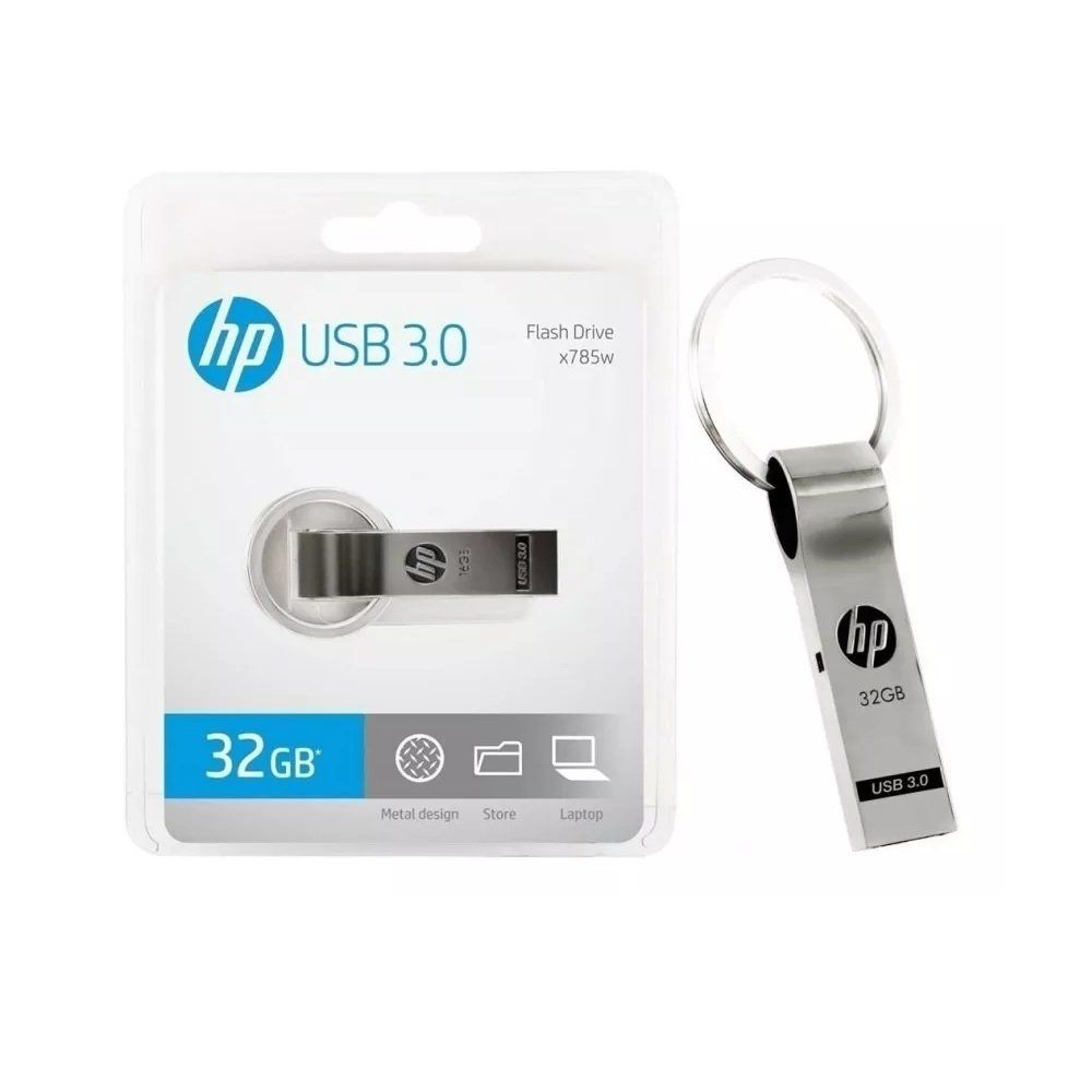 Pendrive hp x785w 32gb usb 3.0 metal, hpfd785w-32