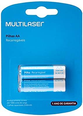 Pilha Recarregável 2A 2500 MAH 2x1 CB053 Multilaser