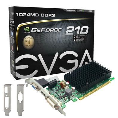 Placa de Vídeo EVGA GeForce 210 1GB DDR3