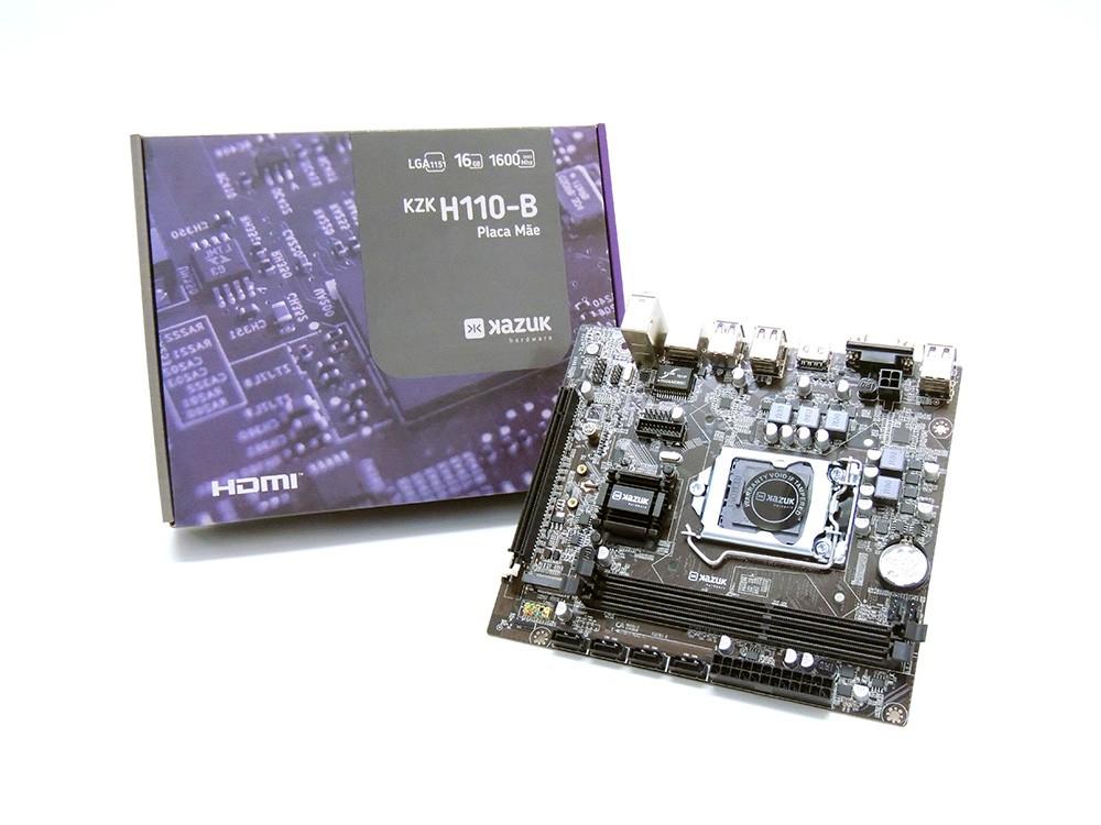 Placa Mae Kazuk1151 H110 DDR4 HDMI