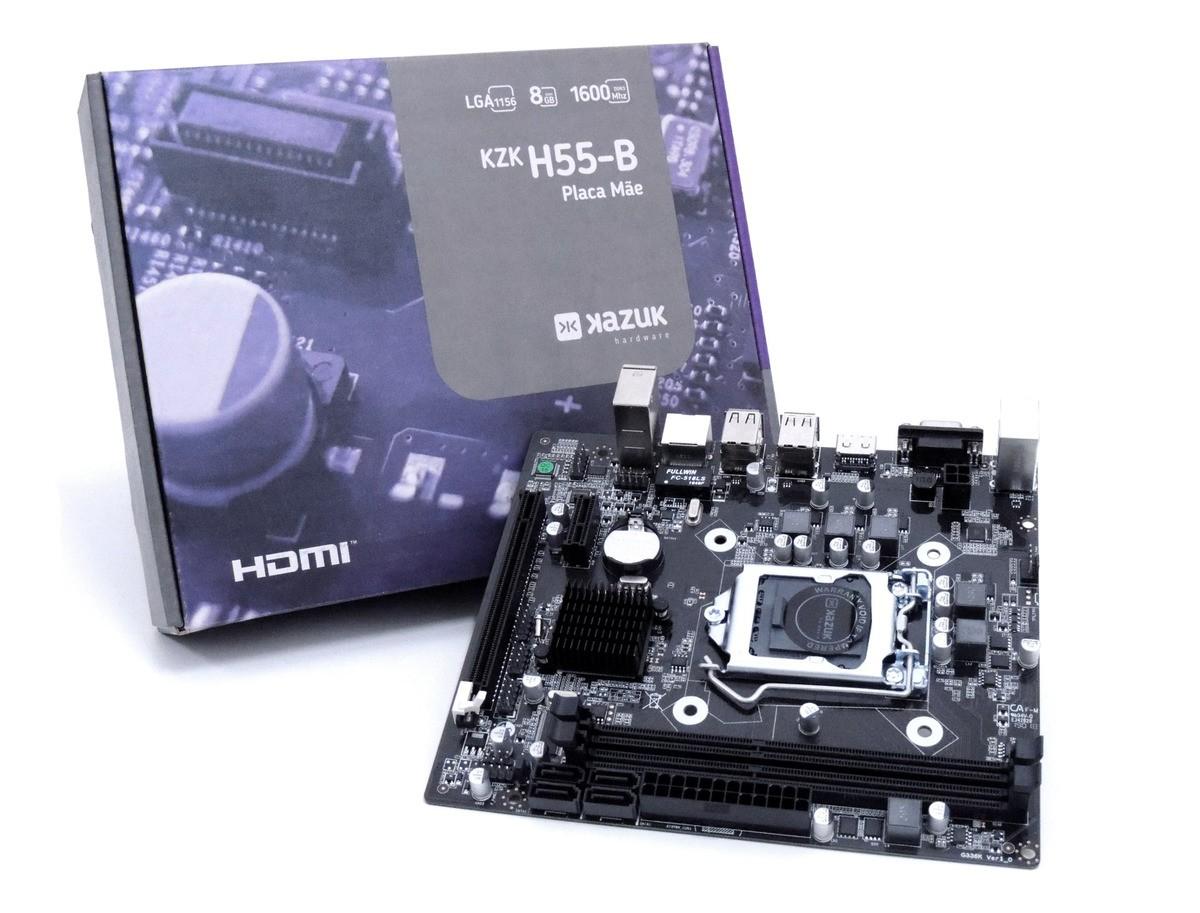 Placa Mae Kazuk LGA 1156 H55 DDR3 HDMI