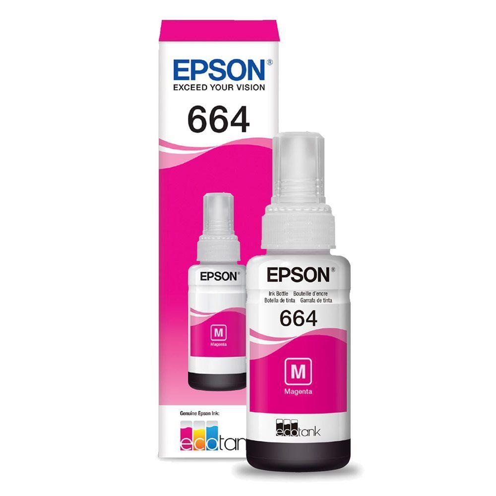 Refil Tinta Epson T664320 Magenta