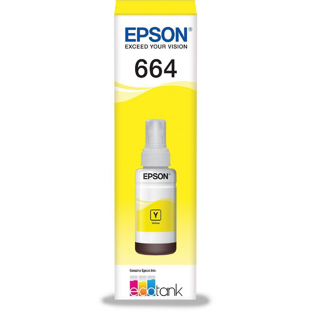 Refil Tinta Epson T664420 Amarelo