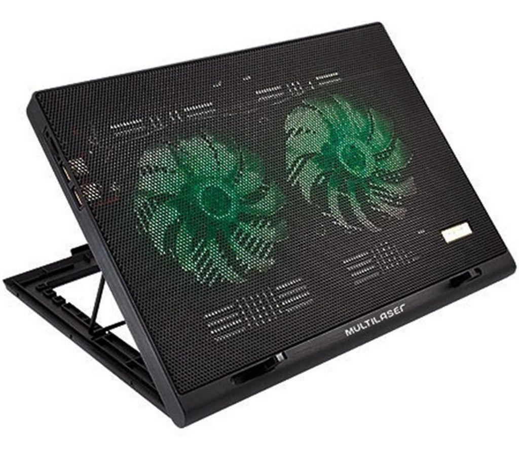 Suporte Para Note Cooler Led Green Multilaser Ac267