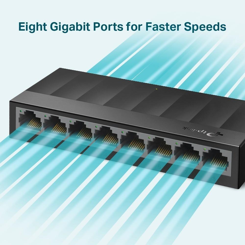 Switch 8 Portas Gigabit 10 100 1000 Mbps TpLink LS1008G