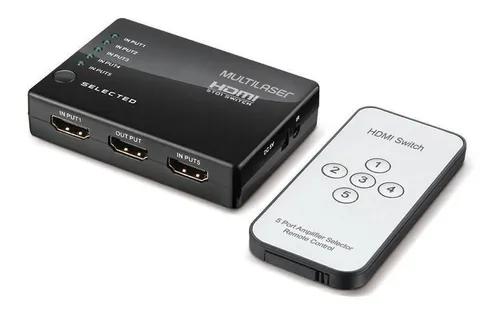 Switch Multilaser Hdmi WI346 com Controle
