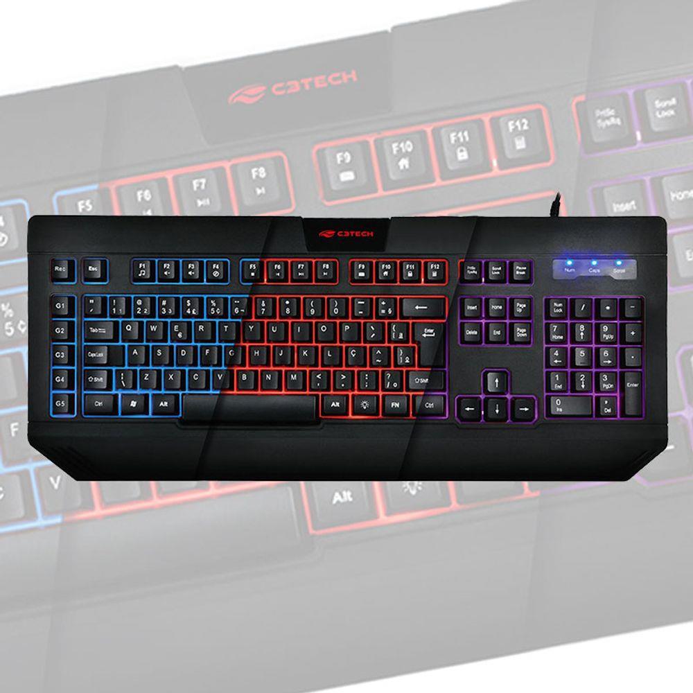 Teclado Gamer C3 Tech Com Macro E Iluminação Led - Kg-110bk