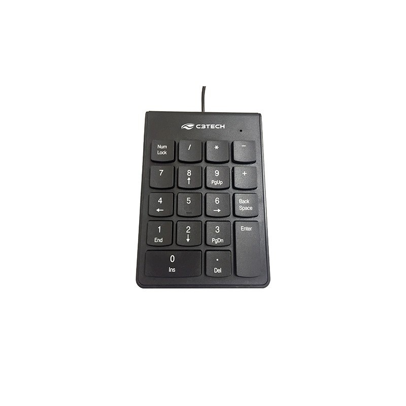 Teclado Numérico USB KN-10BK C3Tech