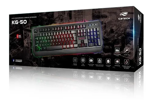 Teclado USB Gamer KG-50 C3Tech