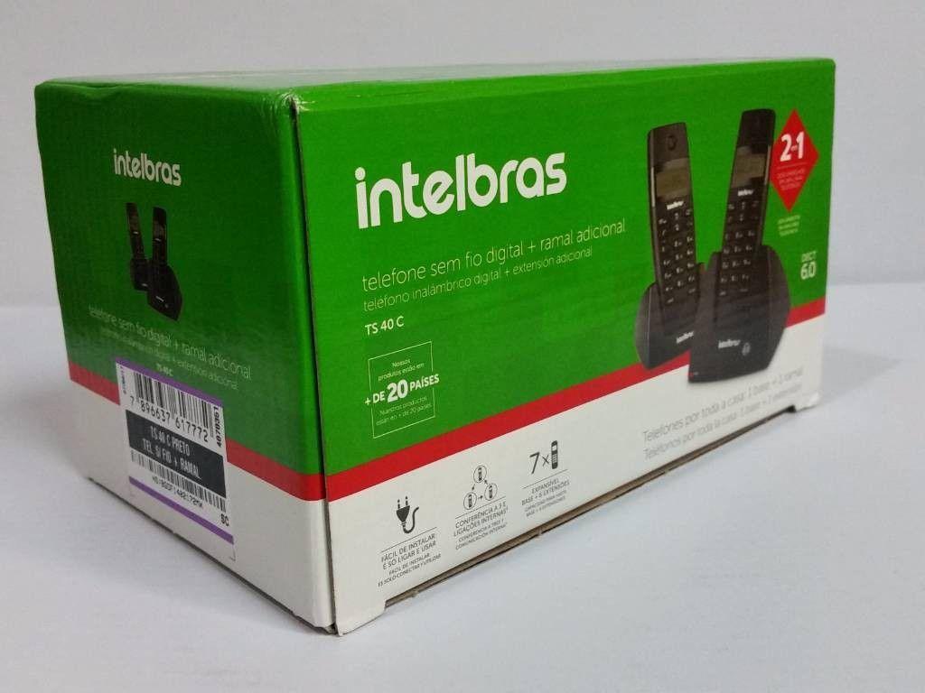Telefone Intelbras Ts40c + Ramal