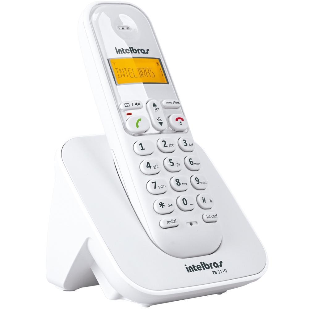 Telefone Sem Fio Intelbras, Branco - TS3110