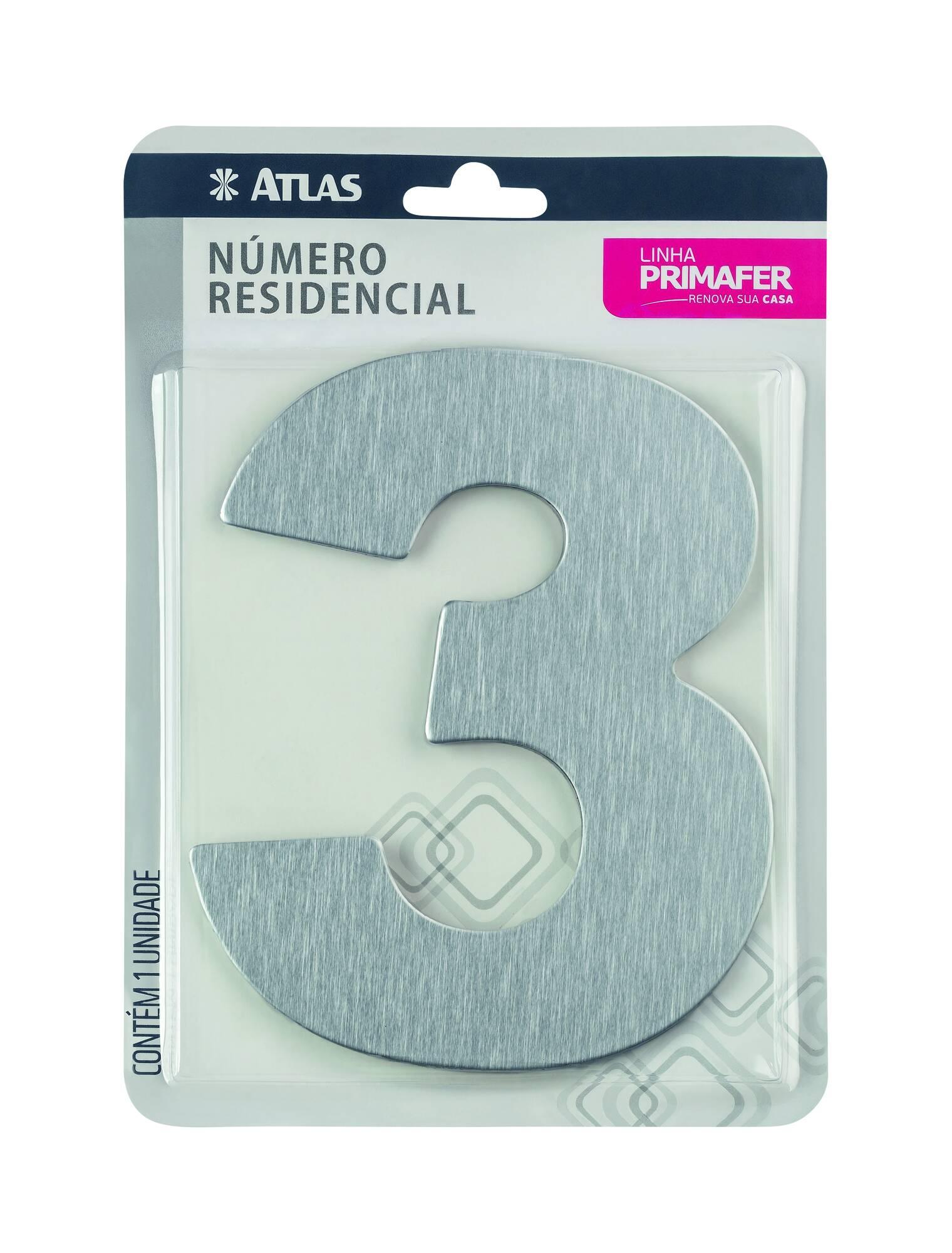 Adesivo Alumínio N° 3 Atlas PR3001/3.