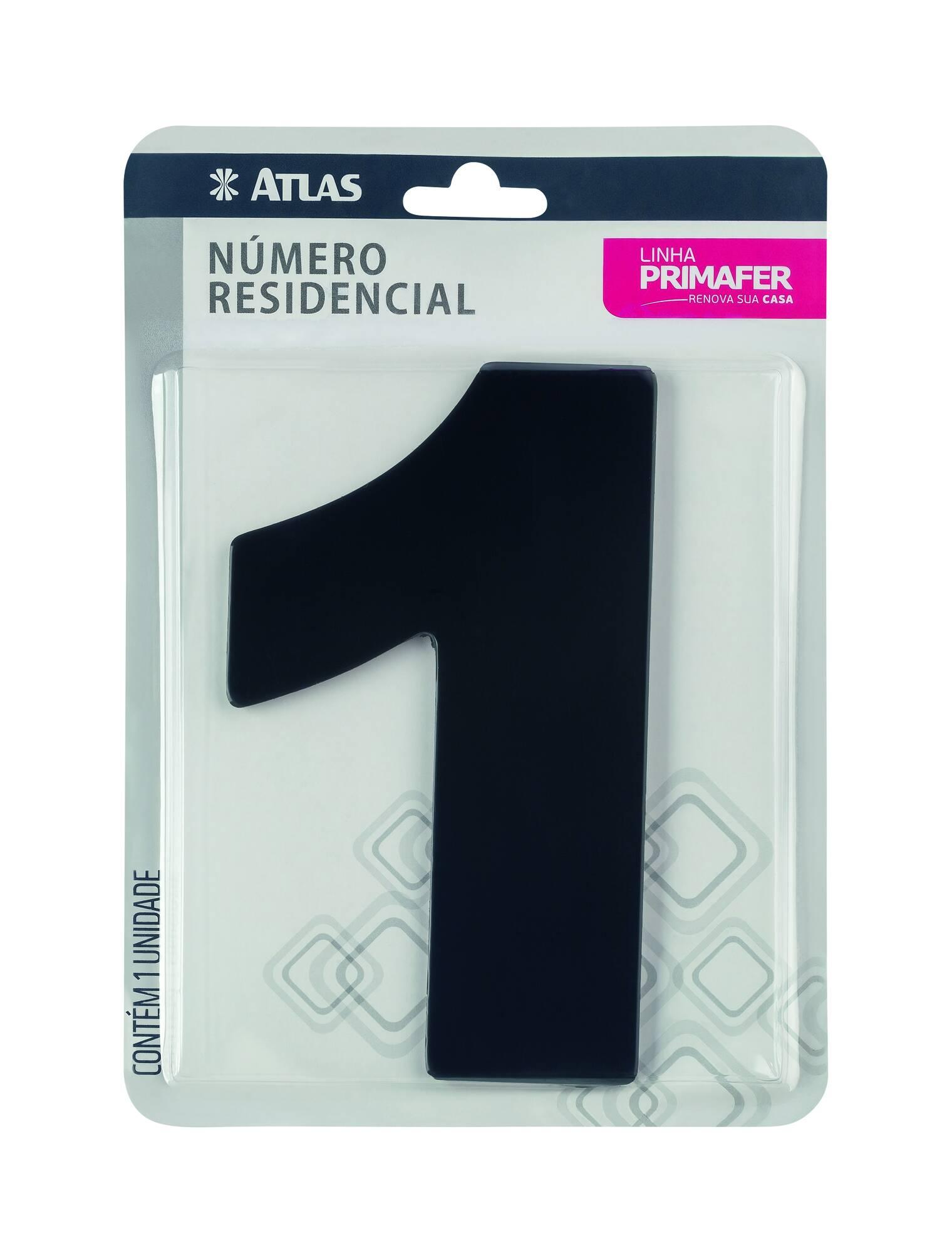 Adesivo Preto N° 1 Atlas PR3000/1.