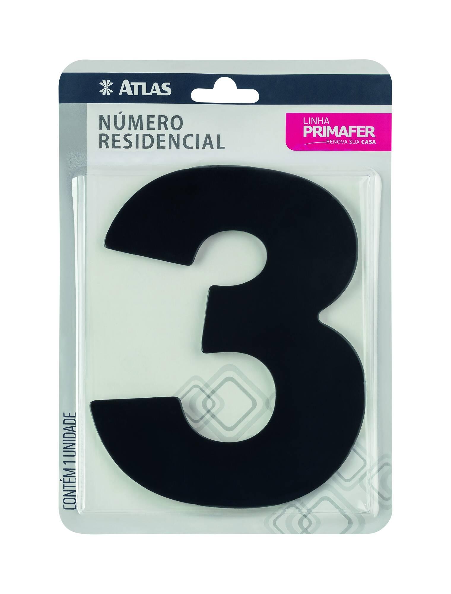 Adesivo Preto N° 3 Atlas PR3000/3.
