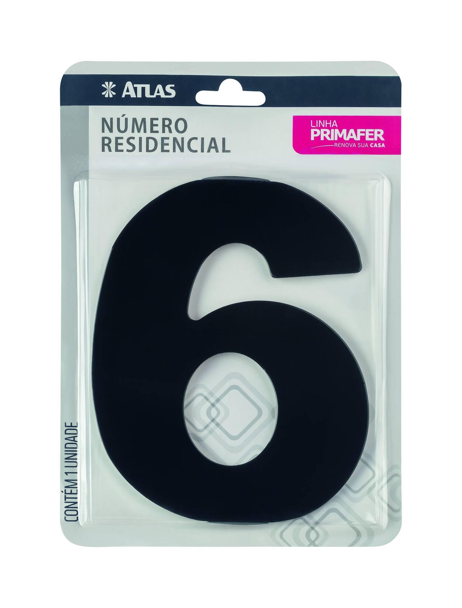 Adesivo Preto N° 6 Atlas PR3000/6.