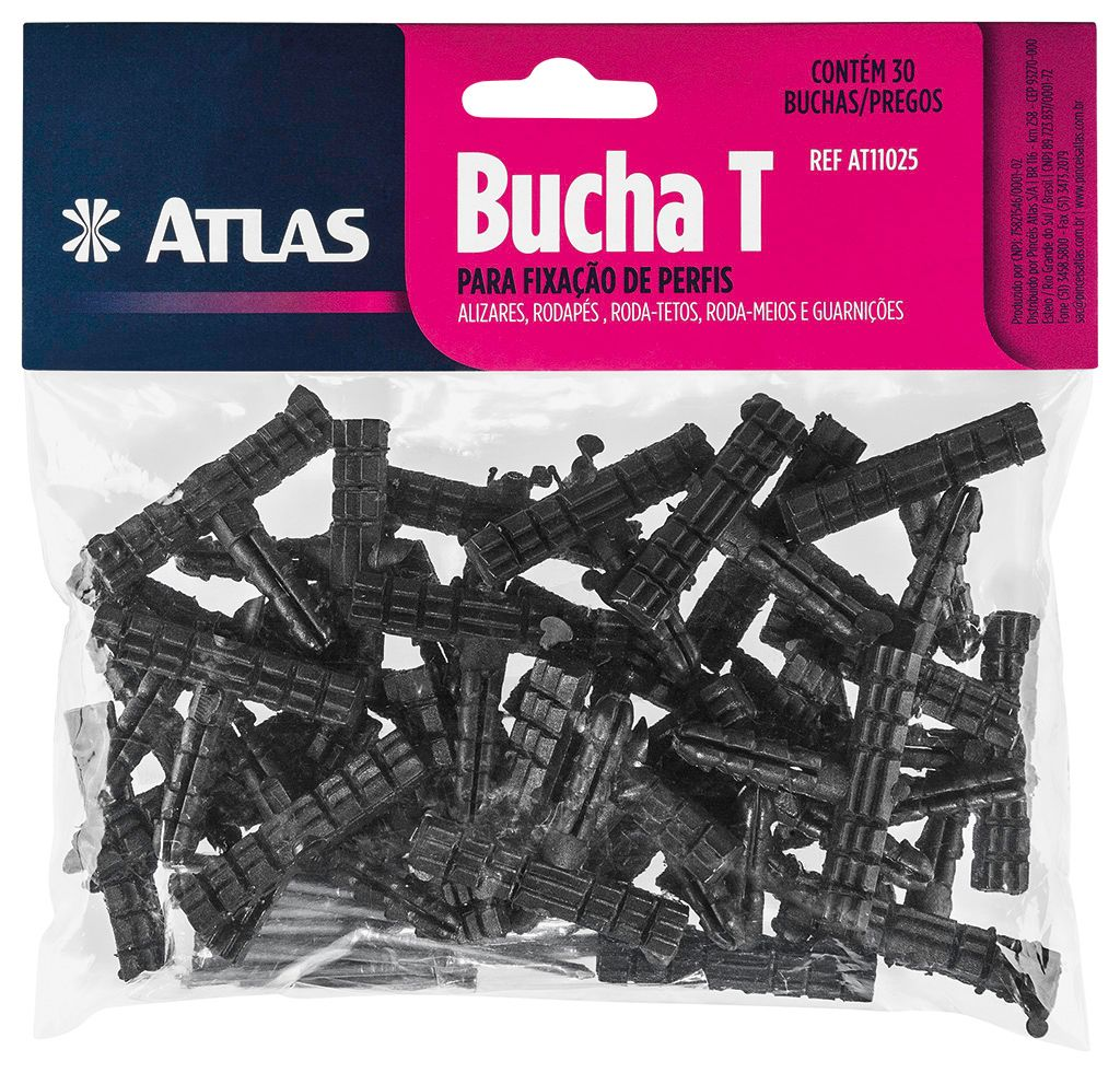 Bucha T C/ 30 Unid 13 X 8 X 5 Cm Atlas AT11025.