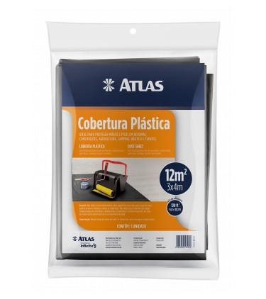Cobertura Plástica Lona 3 X 4 M Preta Atlas AT22/3040.