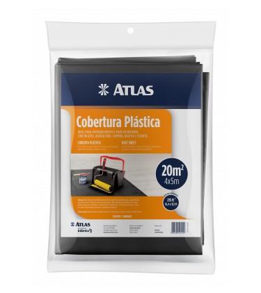 Cobertura Plástica Lona 5 X 4 M Preta Atlas AT22/5040.