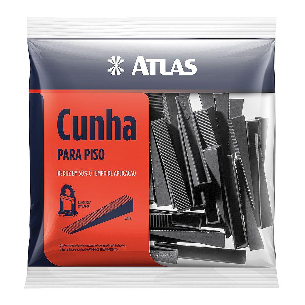 Cunha de Plástico P/ Nivelar Piso C/ 50 Unid Atlas AT50.