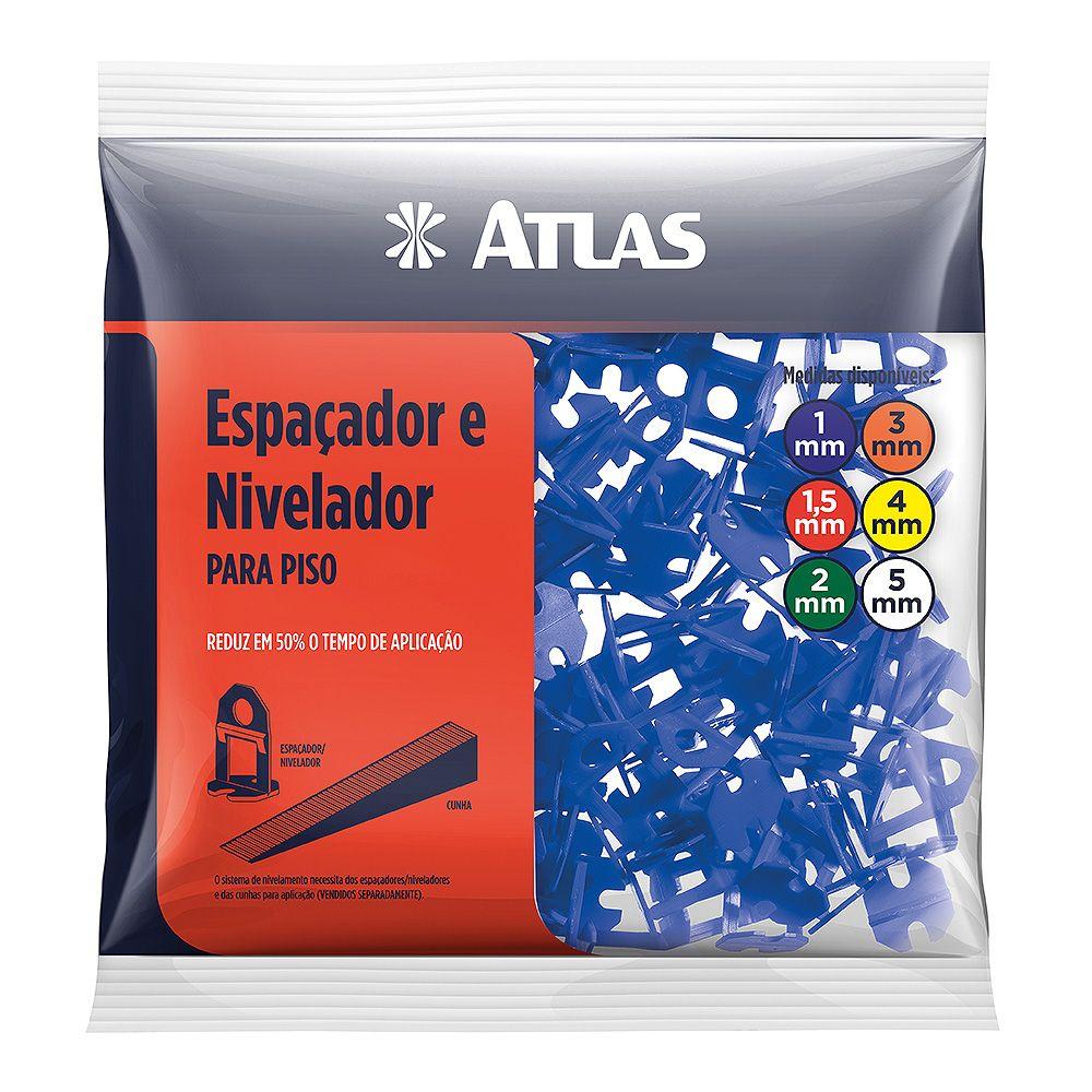 Espaçador e Nivelador Plástico P/ Piso 1 Mm C/ 100 Unid Atlas AT50/1.