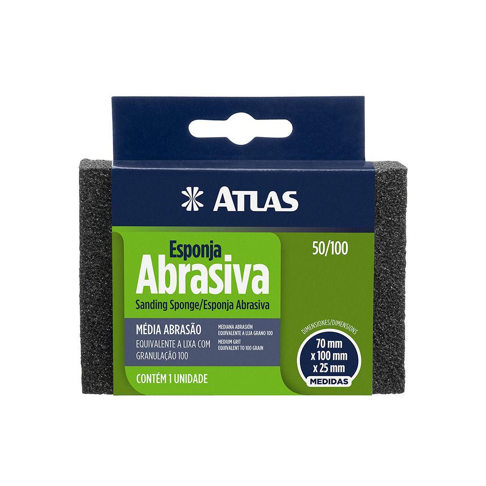 Esponja Abrasiva Rígida Média Atlas 50/100.