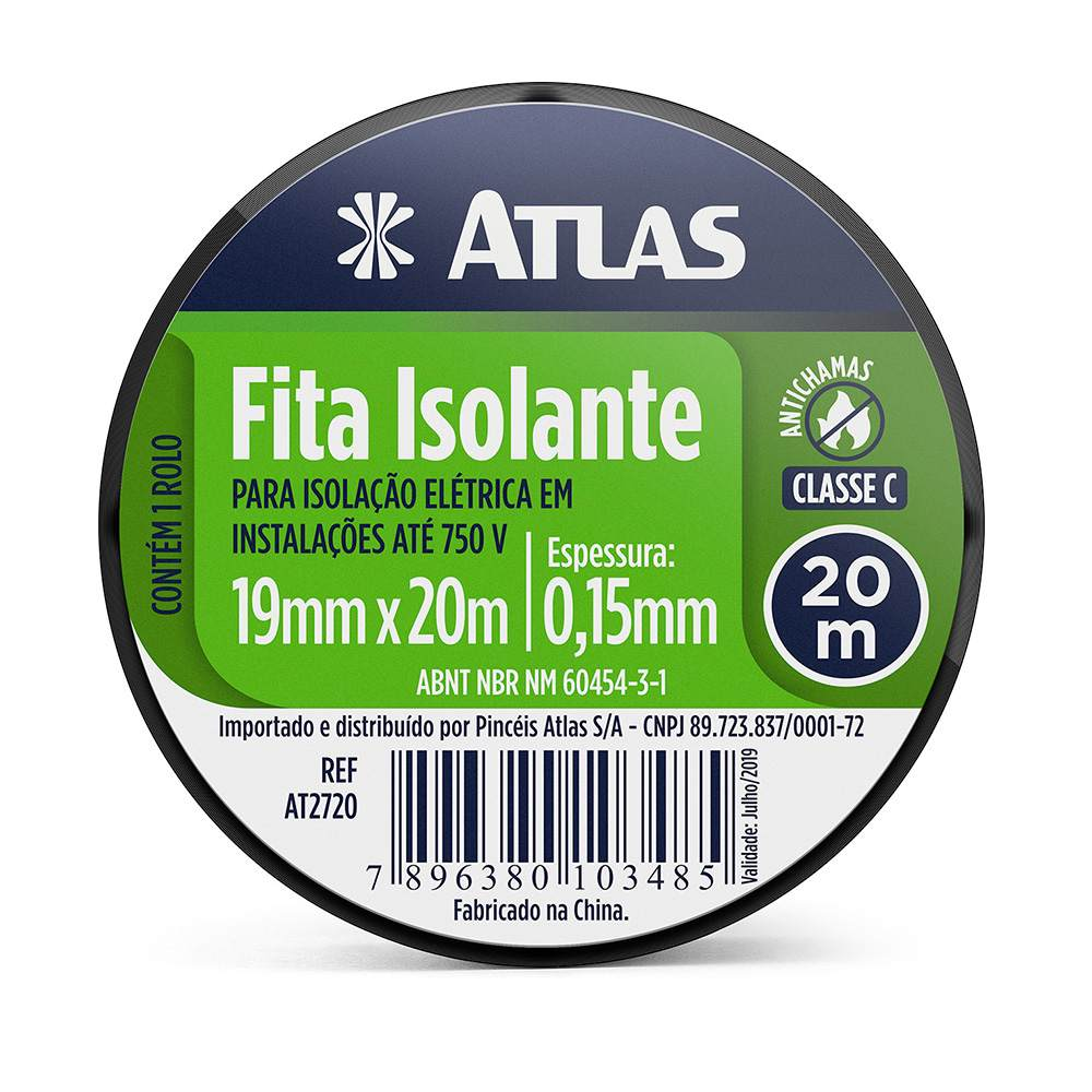 Fita Isolante 20 M Atlas AT2720.