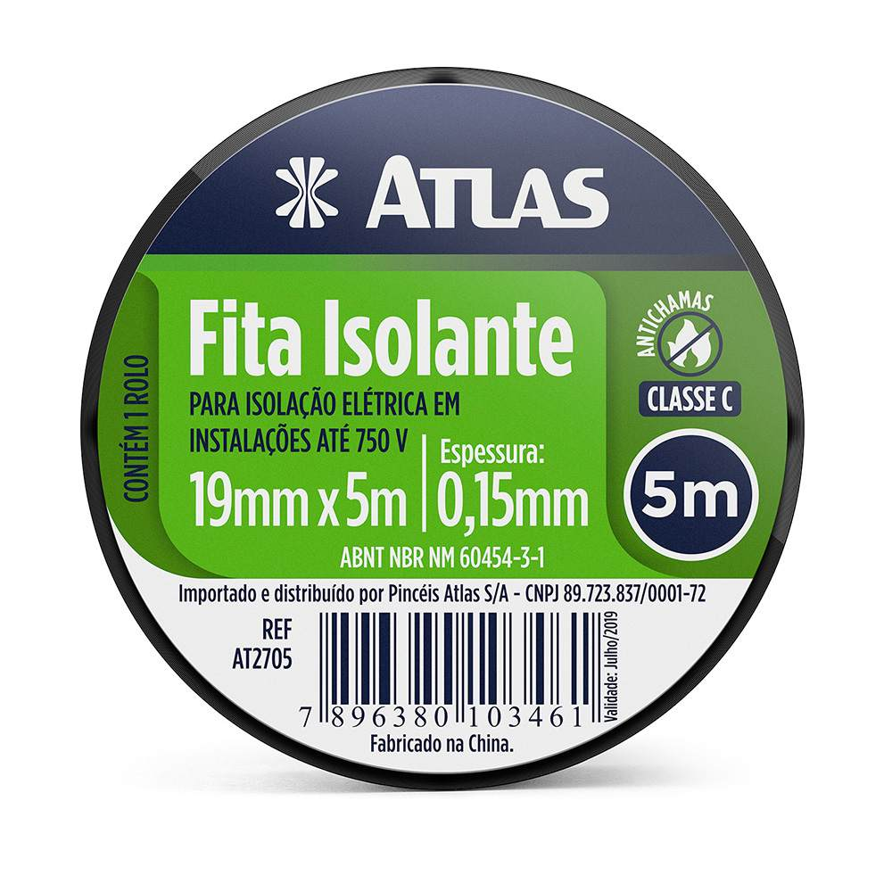 Fita Isolante 5 M Atlas AT2705.