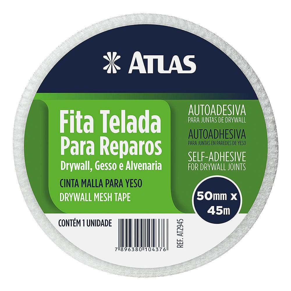 Fita Telada para Drywall 5 Cm X 45 Metros Atlas AT2945.