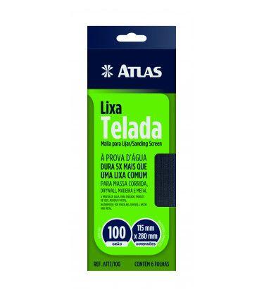 Folha Abrasiva Telada 11,5 X 28 Cm Grão 100 C/ 6 Unid Atlas AT17/100.