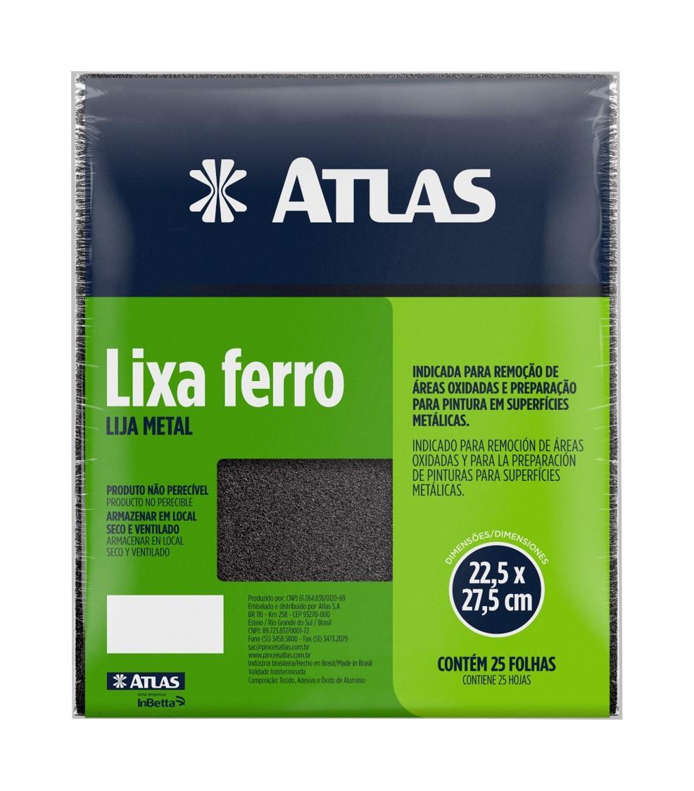 Lixa Ferro 40 C/ 25 Folhas Atlas 20/40.