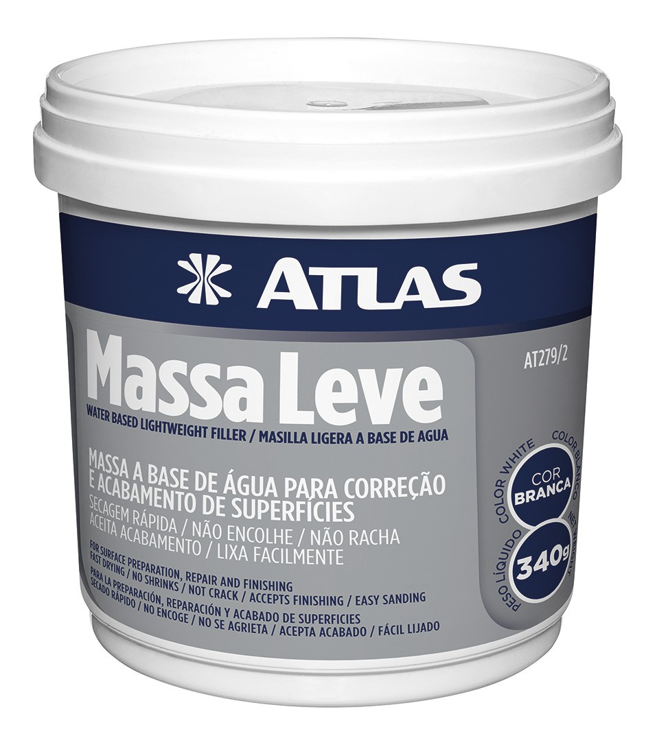 Massa Corretiva Leve 340 Gr Atlas AT279/2.