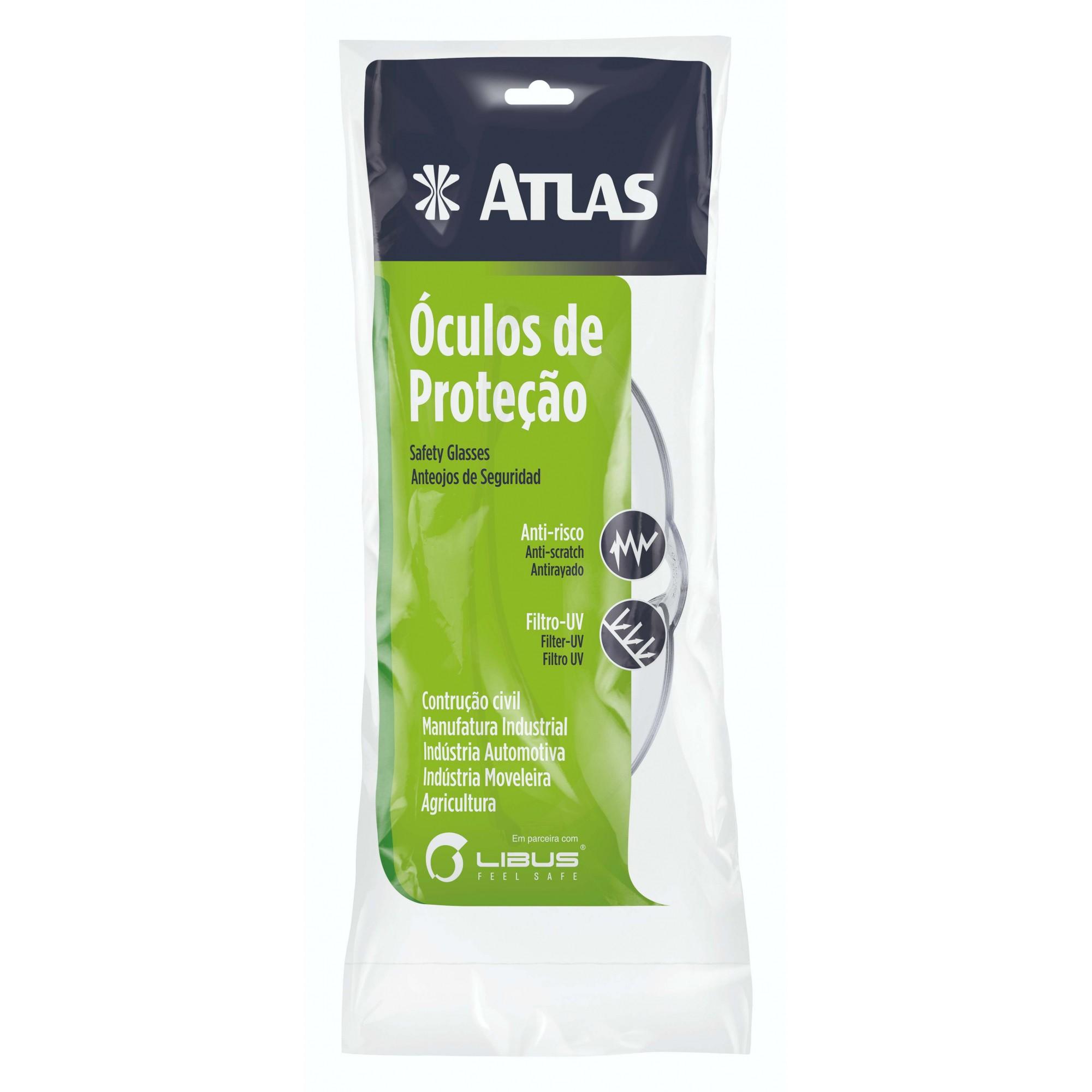 Óculos de Proteção Eco Line Incolor Atlas AT3300/1.