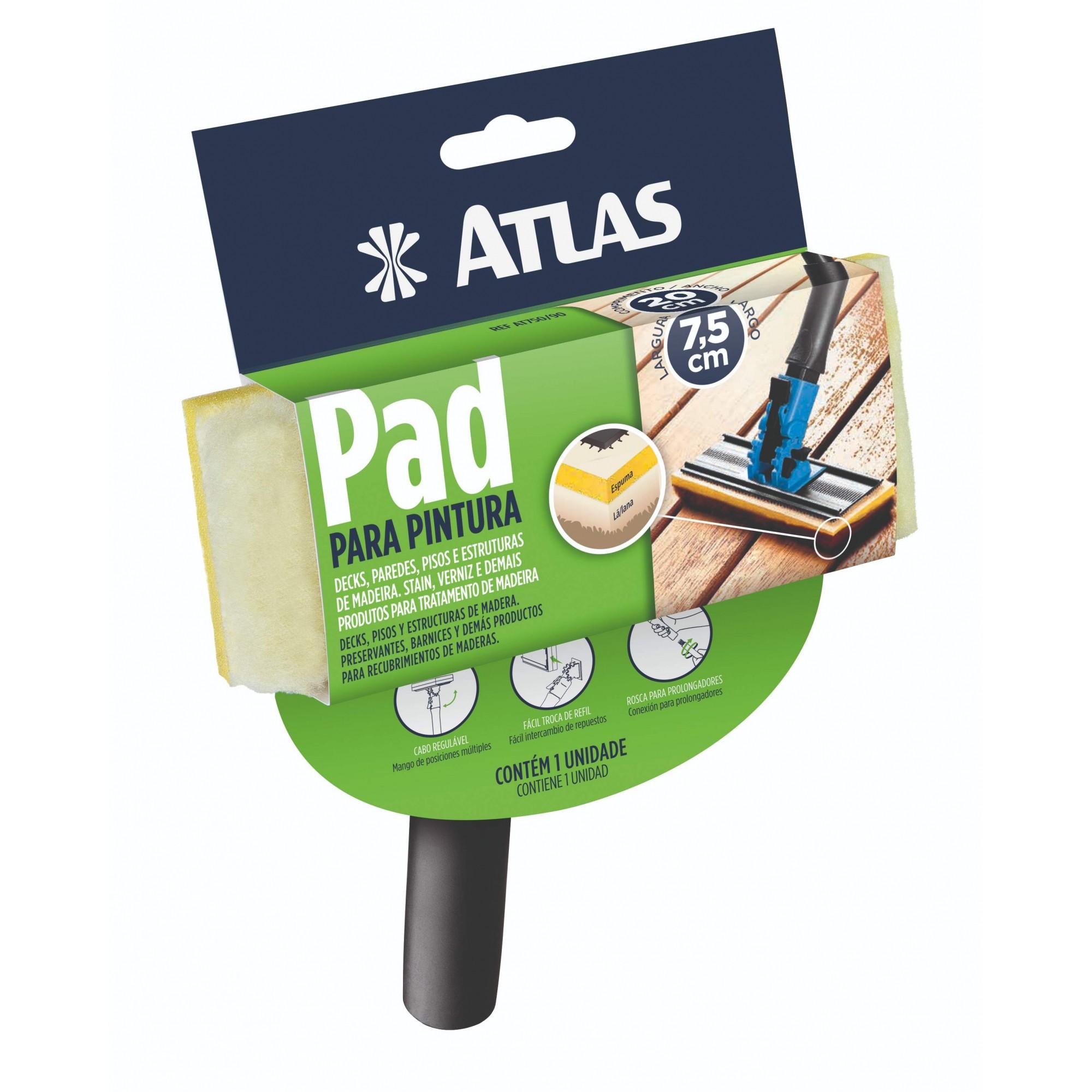 Pad P/ Pintura C/ Cabo Plástico Atlas AT750/90.