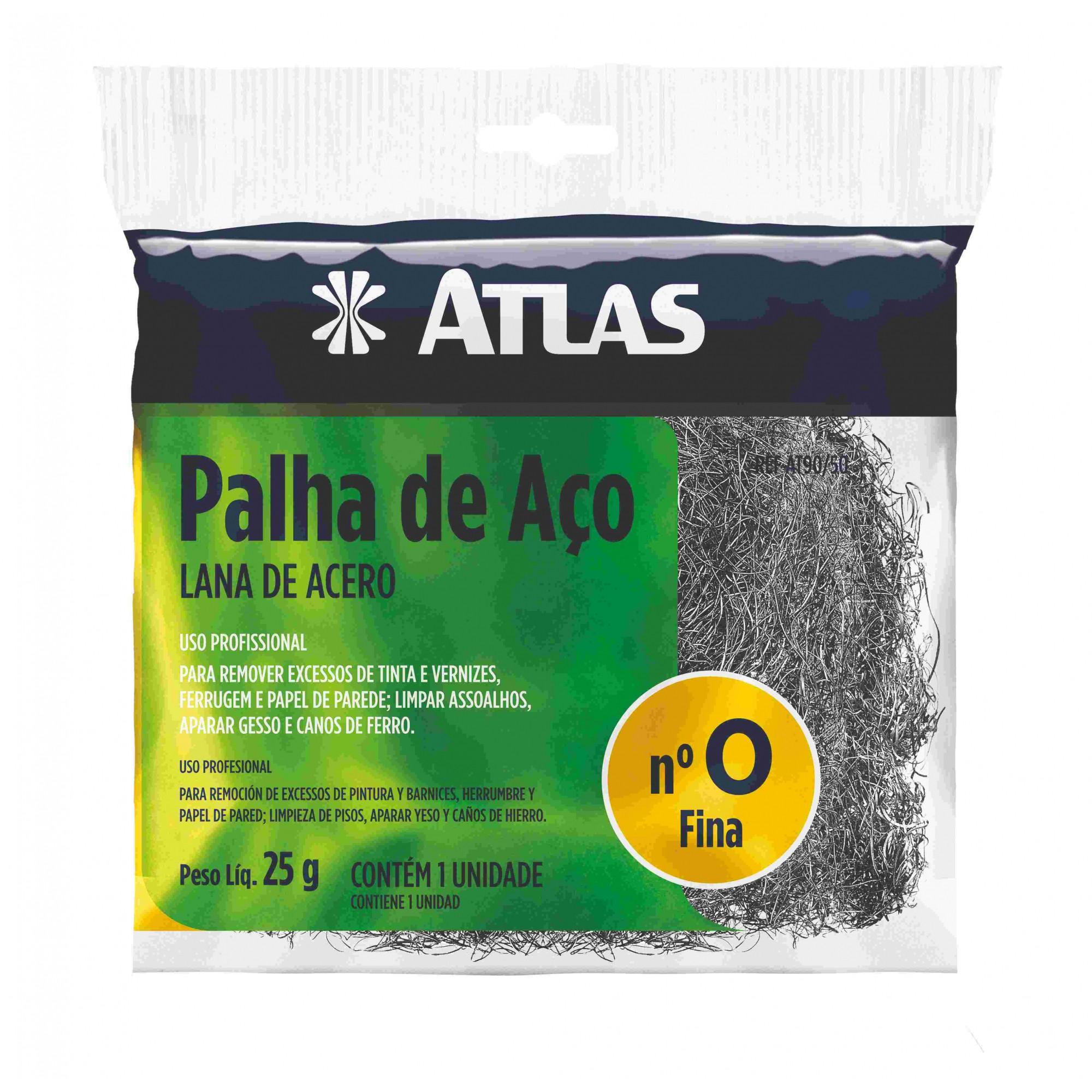 Palha de Aço Fina Atlas N° 0 AT90/50.