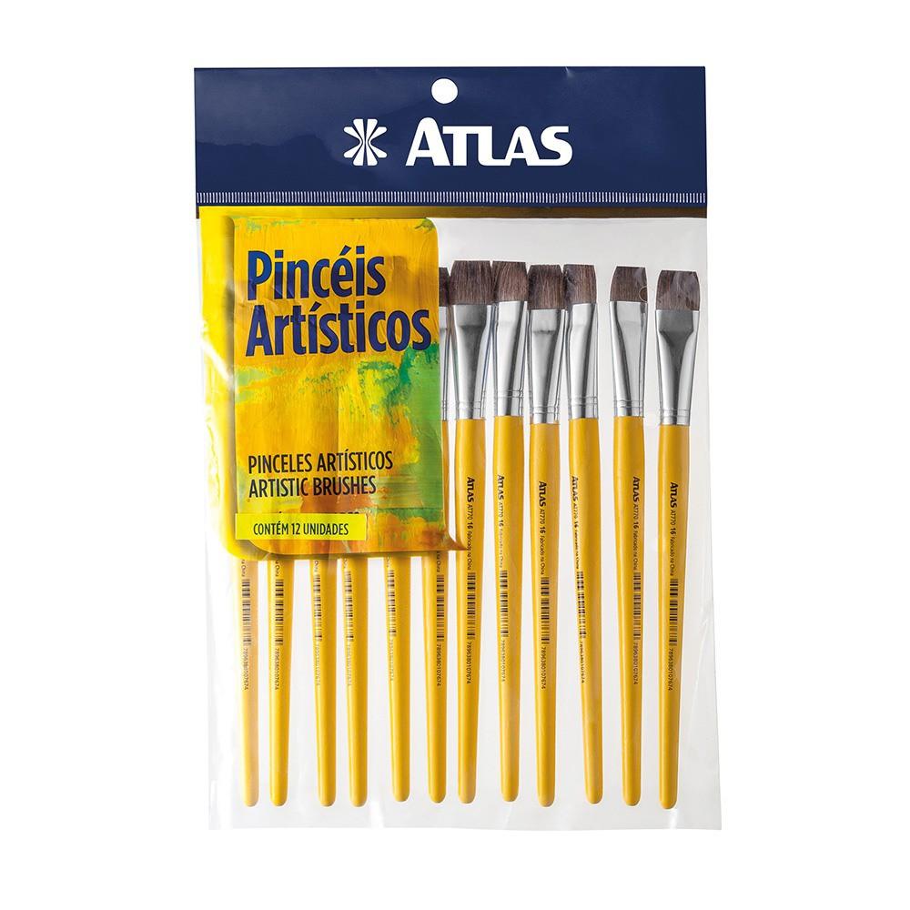 Pincel Achatado Escolar 4 Atlas AT770/4.