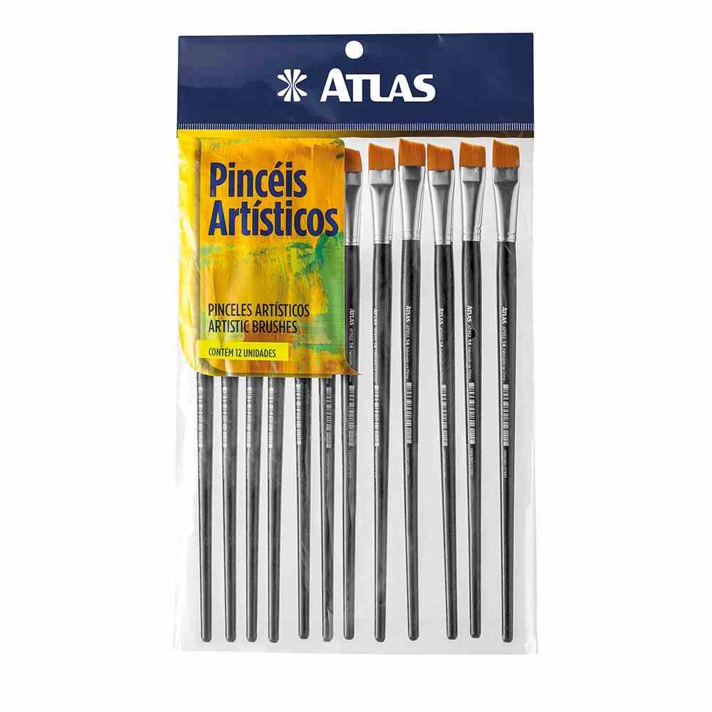 Pincel Achatado Sintético 14 Atlas AT952/14.