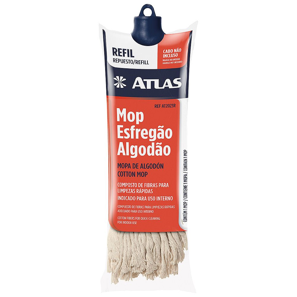 Refil Mop Esfregão Algodão Atlas AT2023R.
