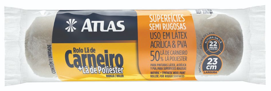 Rolo Lã Mista 23 Cm Atlas 228/22.