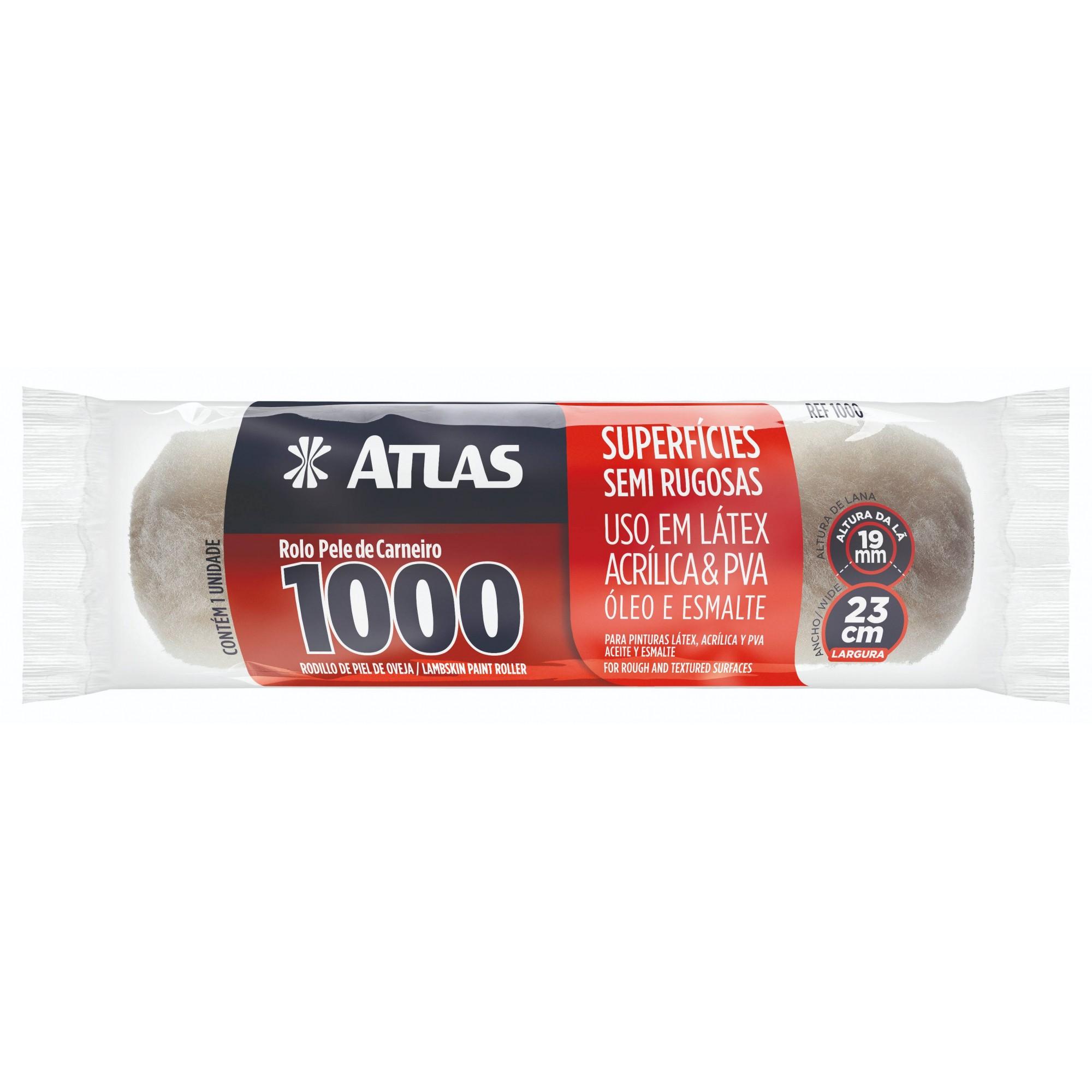 Rolo Pele de Carneiro 1000 23 CM Atlas 1000.