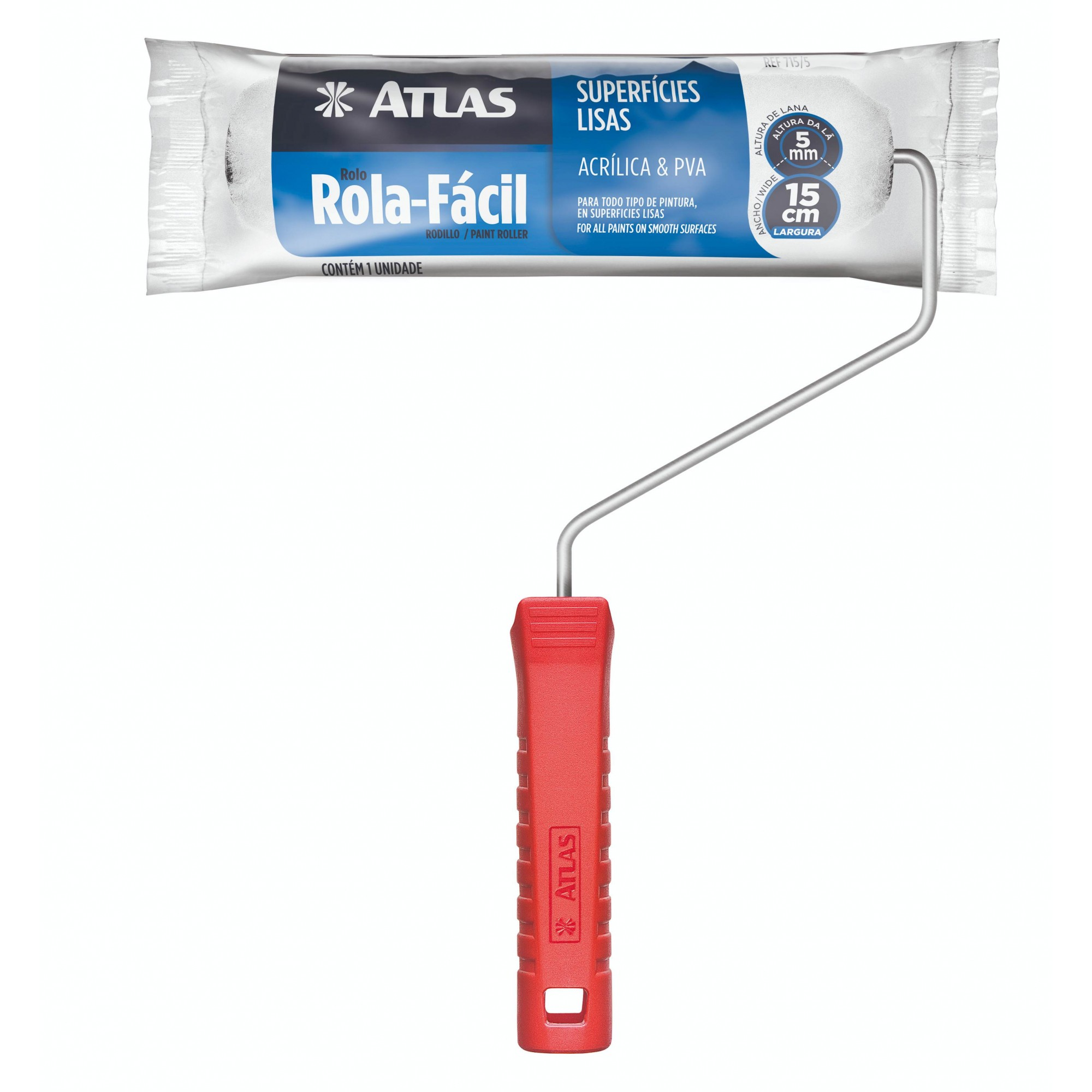 Rolo Rola Fácil 15 Cm Atlas 715/5.
