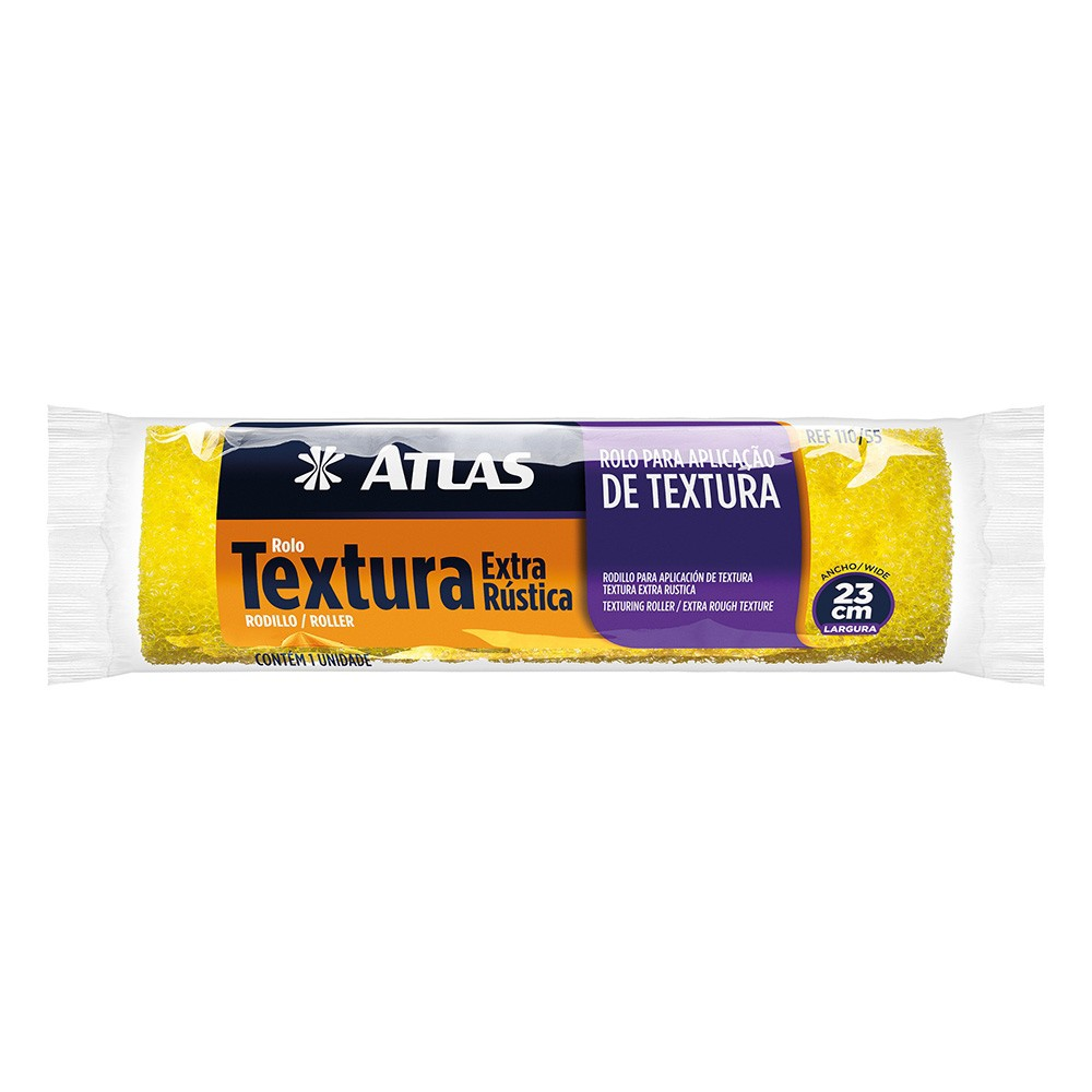Rolo Textura Extra Rústica 23 Cm Atlas 110/55.