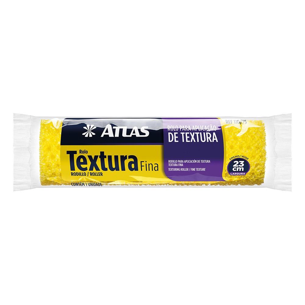 Rolo Textura Fina 23 Cm Atlas 110/75.