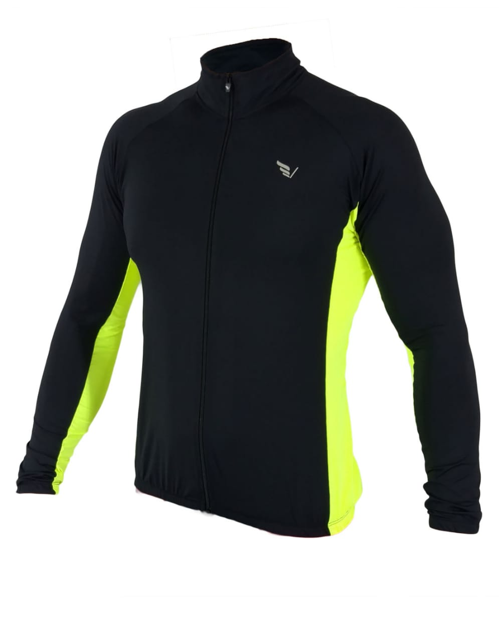 Camisa Banf Cycling Manga Longa Poliamida Villa Sports  Verde Flúor
