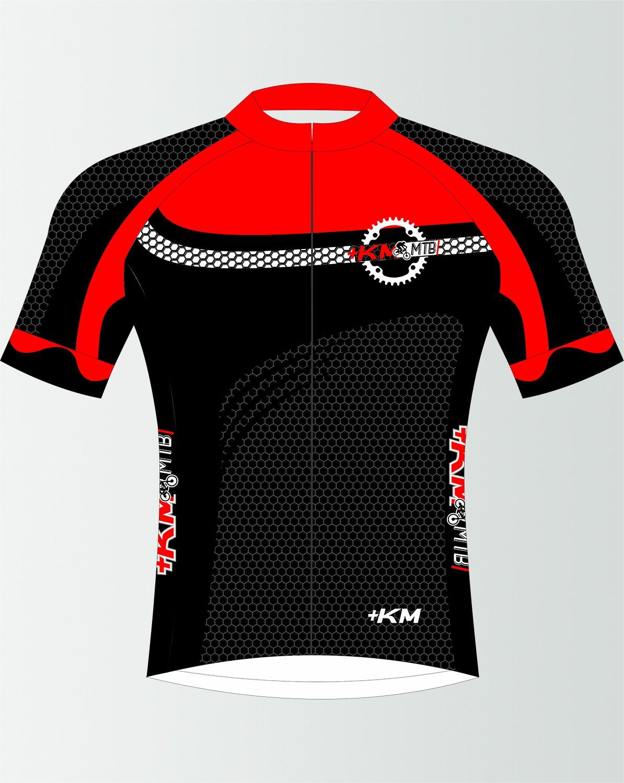 Camisa de Ciclismo Manga Curta Zíper Inteiro + KM