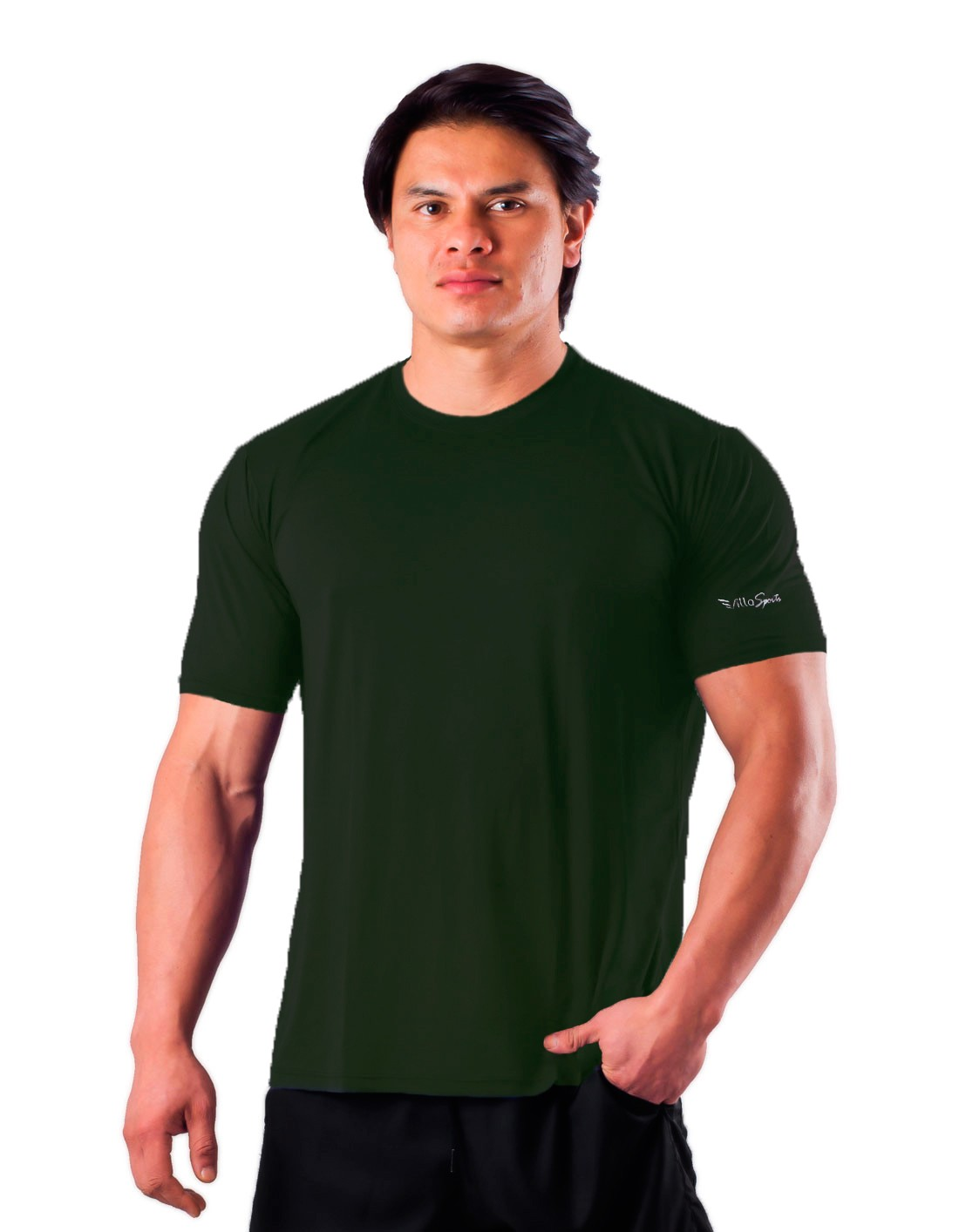 Camiseta Básica Dry Poliamida Villa Sports Agave