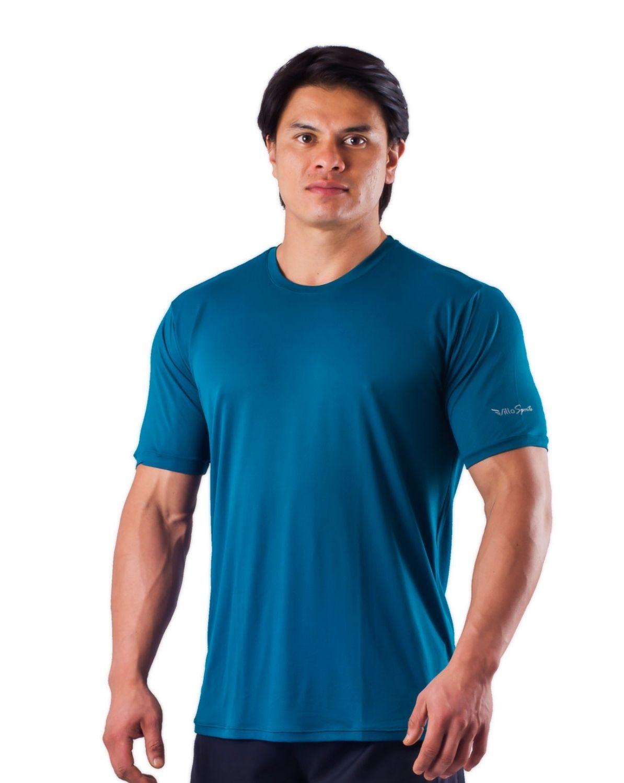 Camiseta Básica Dry Poliamida Villa Sports AZUL INDIGO