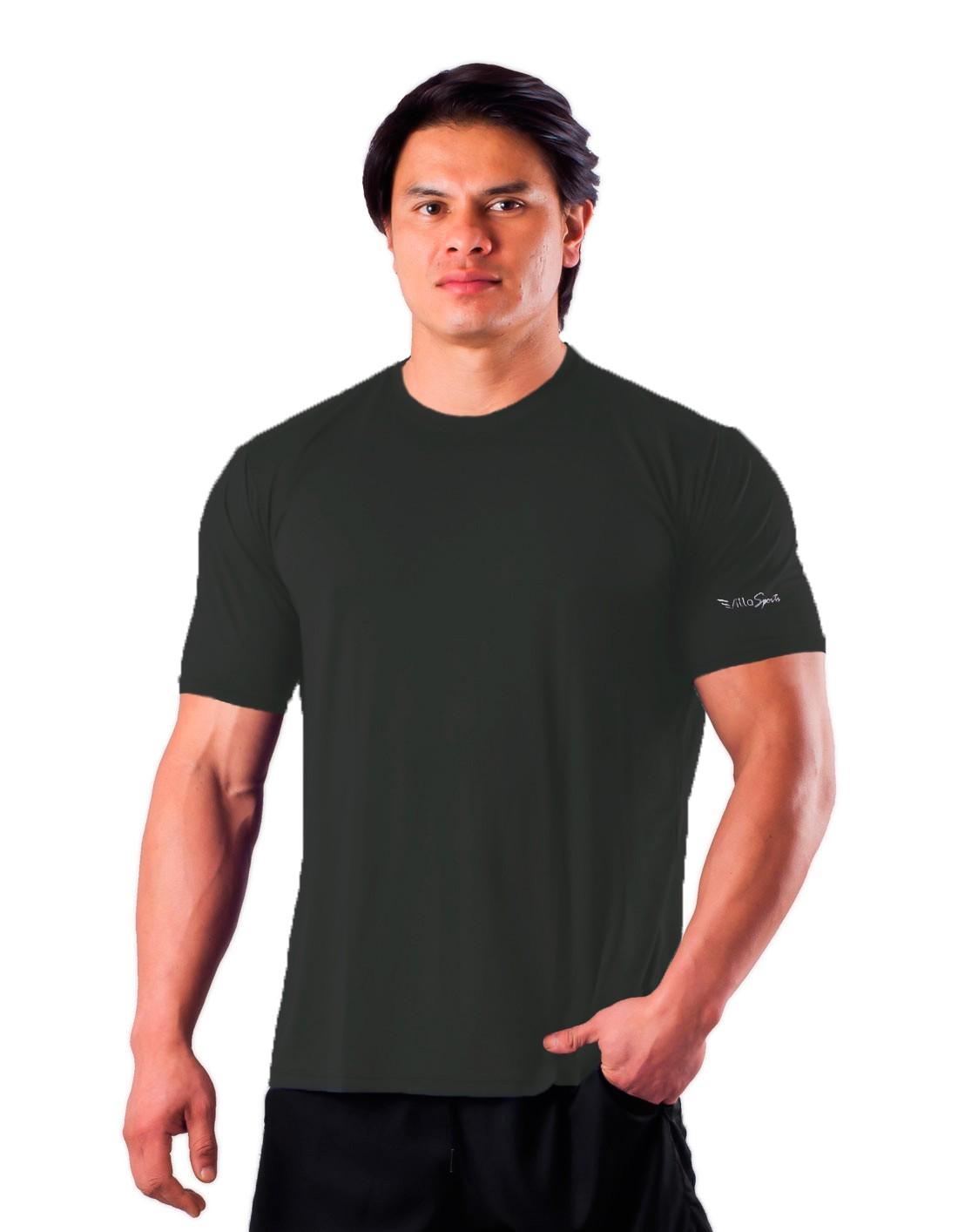 Camiseta Básica Dry Poliamida Villa Sports Chumbo