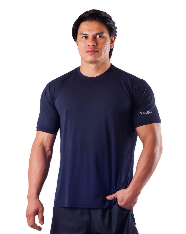 Camiseta Básica Dry Poliamida Villa Sports MARINHO